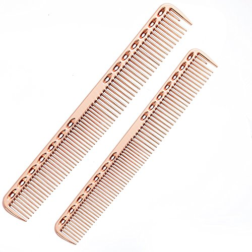 SMITH CHU Professional Space Aluminum Dressing Combs for Women - Best Styling Comb for Long,Wet or Curly, Reduce Hair Loss and Dandruff&Headache