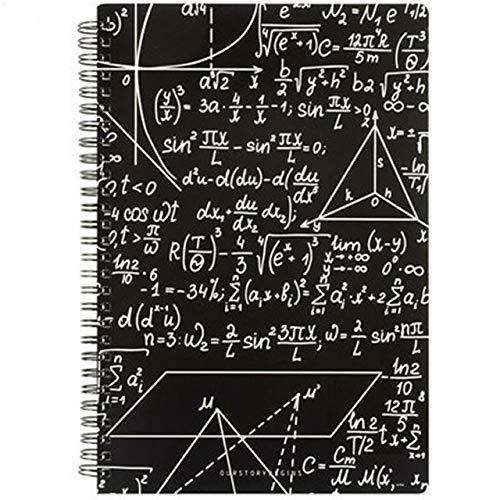 WanTo Quaderno di Scuola di Moda per Ufficio di Matematica Creativa Formula di Matematica Quaderno di Pianoforte Quotidiano Semplice Copertina di Lavagna A5 B5 68 quaderno di quaderno, Kaki Scuro, A5