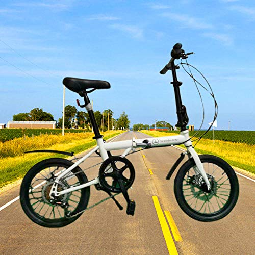 Comooc Student Faltrad 16 Zoll Mini Mini Faltrad -Weiß_16_Zoll