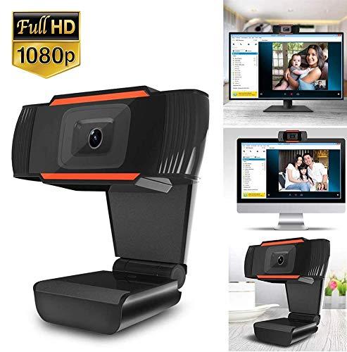 1080P Webcam mit Mikrofon,Webcam Full HD, USB 2.0 Webcam, PC Laptop Desktop Webkamera mit automatischer Lichtkorrektur, Autofokus Webcam Plug & Play für Live-Streaming, Videoanrufe, Konferenz, Spielen