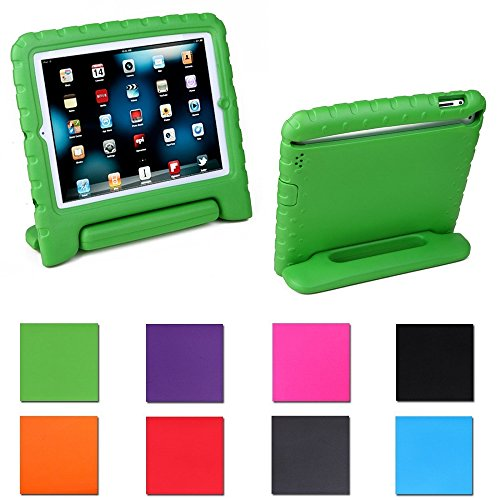 Aken Kids Light Weight Shock Proof Handle Case for iPad Mini / Mini 2 / Mini 3 (Green) by Aken
