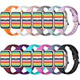 ZAROTO Compatible for Apple Watch Bands 40mm Series 6 Series 5 4, iwatch 38mm Bands for Apple watch SE, Thin Soft Narrow Replacement Strap Wristband for Apple Watch Series 3 2 1 38mm Women Men 12 Pack
