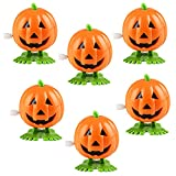 The Dreidel Company Halloween Pumpkin Wind-Up Toys, Birthday Party Favors, Novelty Toys for Boys and Girls, 2