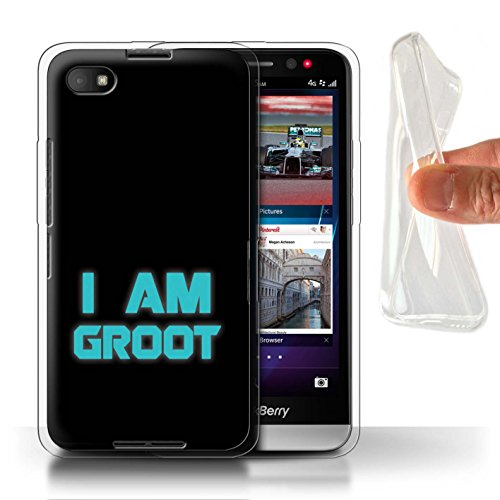 Hülle Für BlackBerry Z30 Comic Wächter Inspiriert Retro I Am Groot Design Transparent Dünn Flexibel Silikon Gel/TPU Schutz Handyhülle Case