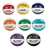 Champion Sports Leather MEGA Medicine Ball Set of 8