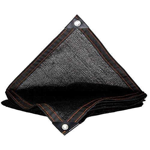HUO Filet D'écran Solaire Net D'ombre, Filet D'isolation Noir De 95% pour Le Balcon De Cour (Couleur : Noir, Taille : 4 * 6m)