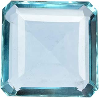 Real Gems 33.00 CT Una Piedra Preciosa Suelta de Aguamarina, Piedra Cuadrada facetada en Forma de Aguamarina de Marzo, fab...