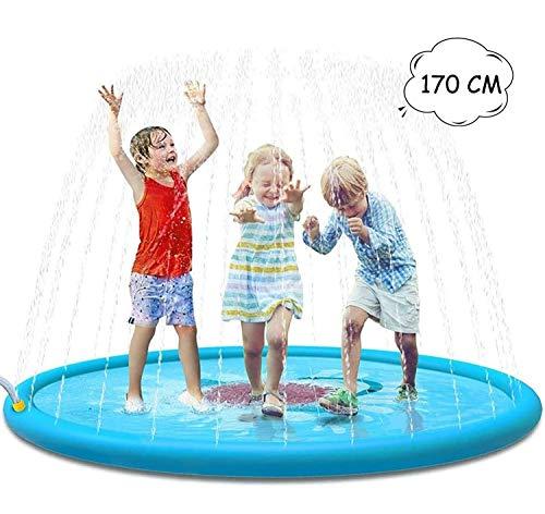 Foanerwi Splash Pad 67 Zoll-Sprenger-Spiel-Matte Aufblasbare Wasserspielzeug Außenpool Spielzeug Für Kinder Babys Kleinkinder Jungen Mädchen Und Kinder