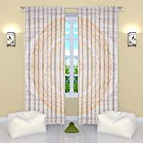 AUNERCART Large New Gold Ombre Mandala Window Curtain Indian Drape Handmade Curtain Panel Drapes & Valances...