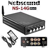 Nobsound NS-14G Bluetooth 4.2 HiFi 2.1チャンネル サブウーファー オーディオ ステレオパワーアンプ 50W *2 + 100W