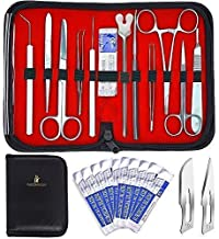 20 Pcs Advanced Biology Lab Anatomy Medical Student Dissecting Dissection Kit Set with Scalpel Knife Handle Blades