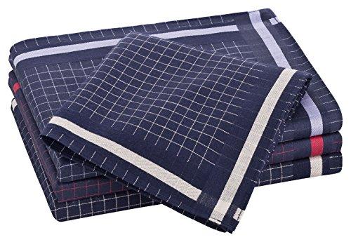Tobeni 12 Stück Herren Stoff Taschentücher Herrentaschentücher Stofftaschentücher 100% Baumwolle-Satin Farbe Design 48 Grösse 41 cm x 41 cm