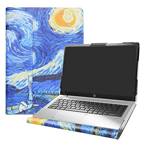 "Alapmk Diseñado Especialmente La Funda Protectora de Cuero de PU para 15.6"" HP Notebook 15 DWxxx DUxxx Ordenador portátil(Not fit HP Notebook 15 15-daXXX/15-dbXXX/15-bsXXX/15-bwXXX),Starry Night"