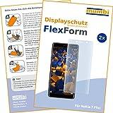 mumbi Flex Schutzfolie kompatibel mit Nokia 7 Plus Folie, Bildschirmschutzfolie (2X)