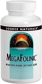 Source Naturals MegaFolinic 800mcg Bioactive Folic Acid, Brain & Cell Health - 120 Tablets