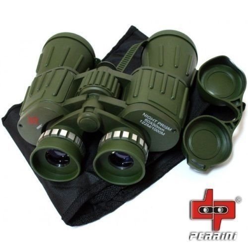 Perini Day/Night 60X50 Military Army Binoculars Camouflage w/Pouch Hunting Camping