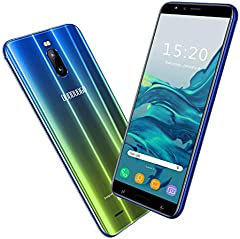 2020 Moviles Libres Baratos 4G, Teléfono Móvil de 6.0'' Pulgadas 18:9 HD 3GB RAM 16GB ROM/64GB Android 8.1 Quad-Core Smartphone Libres Baratos 4800mAh Batería Dual SIM Dual Cámara 8MP Face ID(Oro)