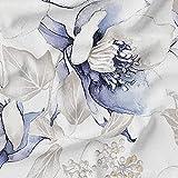 HAPPERS Loneta Estampada Diseño Floral Azul. Venta por Metros con Ancho 280 cm