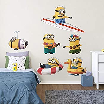 Minions  Beach Collection - Officially Licensed Removable Wall Decals