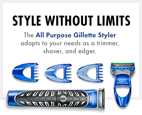 All Purpose Gillette Styler: Beard Trimmer, Men's Razor & Edger - Fusion Razors for Men / Styler