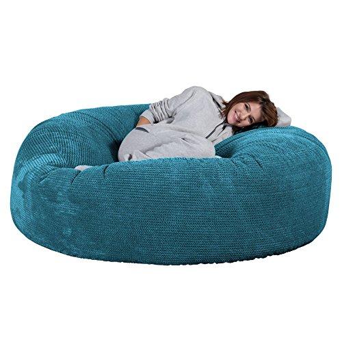 Lounge Pug®, 'Mega-Mammoth' Sofa Sitzsack XXL, Schlafsofa, Pom-Pom Türkis