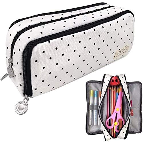 1 bolsa de lápices de gran capacidad, gran regalo, duradero, portátil, organizador de cosméticos para almacenamiento de maquillaje, oficina, escritorio, suministros para estudiantes