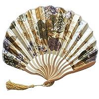 Farantasy扇子 中国風の手持ち型のファンのタケ紙の折るファン党結婚式の装飾スタイリッシュでエレガントな扇子
