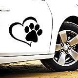 Schöne Autoaufkleber Haustier Katze Hund Pfote drucken Sonnenschutz Aufkleber Dekoration Zubehör, 11cm * 10cm