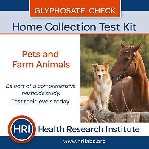 HRI Labs Glyphosate Check - Pets and Farm Animals Home Collection Test. Herbicide Roundup Test
