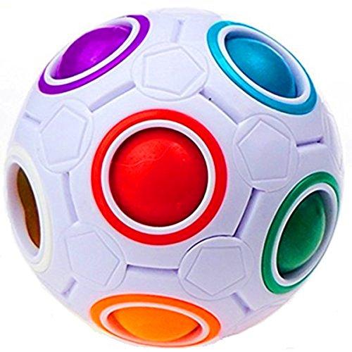 CuberSpeed Rainbow Ball Magic Cube Fidget Toy Puzzle Magic Rainbow Ball Puzzle Fun Fidget