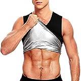 Chaleco de Sudor de Sauna Caliente para Hombre Fajas Neopreno Fitness Entrenamiento Abdominal Camisa sin Mangas Cintura Quemador de Grasa para Bajar de Peso (Color : 2XL/3XL)