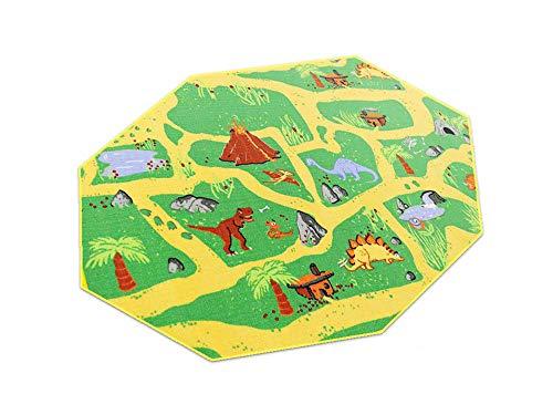 HEVO Dinosaurier Teppich | Spielteppich | Kinderteppich 200 cm Achteck Oeko-Tex 100