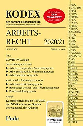 KODEX Arbeitsrecht 2020/21 (Kodex des Österreichischen Rechts)