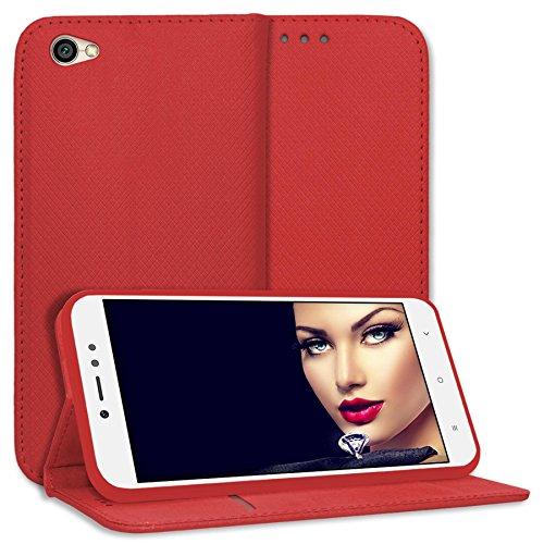 mtb more energy® Schutz-Tasche Bookstyle für Xiaomi Redmi Note 5A (5.5'') - rot - Kunstleder - Klapp-Cover Hülle Hülle