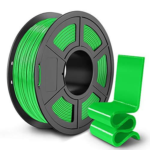 SUNLU PETG 3D Printer Filament, 3D Printing PETG Filament 1.75 mm, Strong 3D Filament, 1KG Spool (2.2lbs), Green