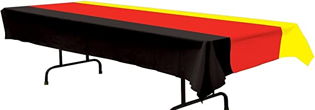 Beistle 57940-BKRY German Table Cover, 54 by 108-Inch