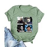 YourTops Savage Classy Bougie Ratchet Shirt Terror Personajes Camisa Halloween, 1-verde, Medium
