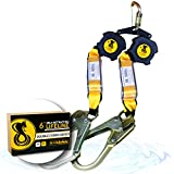 KwikSafety (Charlotte, NC) COBRA 6' Poly Web (NO TANGLE) Self Retracting Lifeline TWIN LEG ANSI CLASS B SRL Rebar Hooks Shock Absorber, Roofing Construction Personal Fall Arrest Protection Safety Yoyo