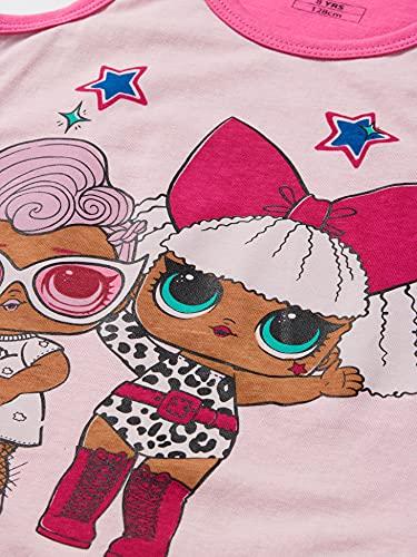 Cerdá Pijama LOL Surprise Corto para Niña de Color Rosa Juego, 6 años para Niñas