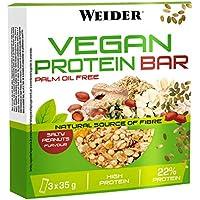 JOE WEIDER VICTORY Vegan Protein Bar Cacahuete salado 3 u, 35 g
