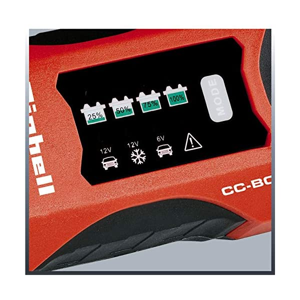 Einhell CC-BC 2 M Outdoor Battery Charger Negro, Rojo – Cargador (220-240, 3 Ah, 60 Ah, 2 A, 68 mm, 147 mm)