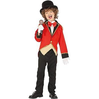 Estilizado disfraz director de circo para niño - Rojo 10 - 12 años ...