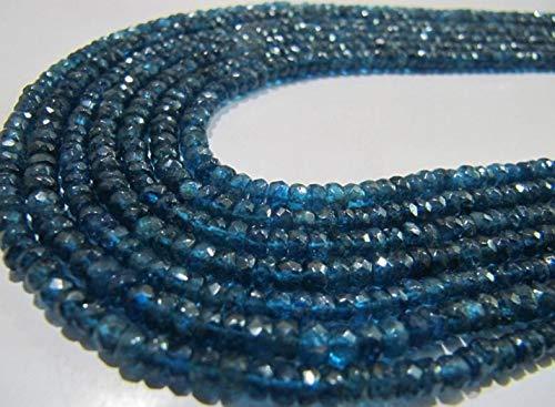 Shree_Narayani Natural Neon Apatite Rondelle Facetado 4 a 6 mm Perlas Strand 14 pulgadas de largo precio al por mayor joyería joyería joyería piedra natal perlas 1 hebra