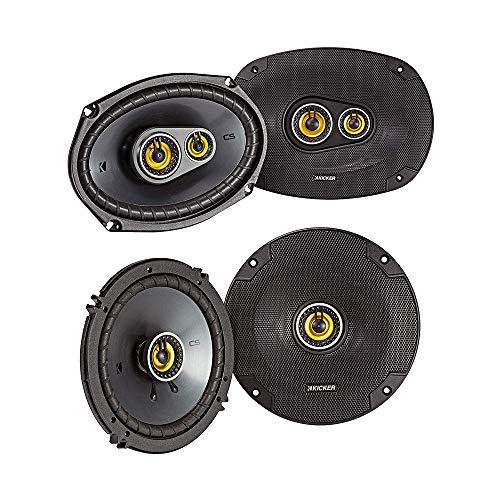 Kicker CS Series CSC693 150 Watt 6 x 9 Inch 3 Way Dual Speakers with CSC65...