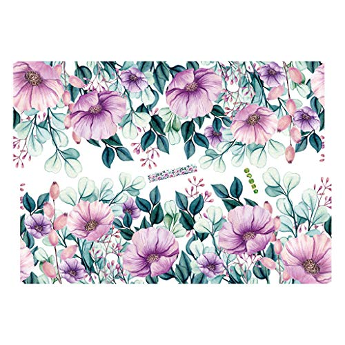 Amazing Deal CHEERM Purple Flowers Vine Wall Decals, Removable Wall Stickers Murals Wallpaper for Ki...
