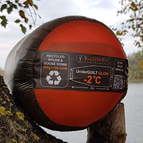 Bushmen Glow -2 Underquilt van gerecyclede dons voor outdoor hangmat