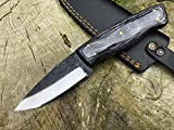 Perkin Cuchillo Supervivencia Dark Forest para Caza, Pesca, Camping, Outdoor, Supervivencia y Bushcraft PK1500