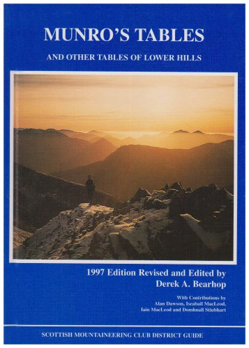 Munro's Tables and Other Tables of Lower Hills