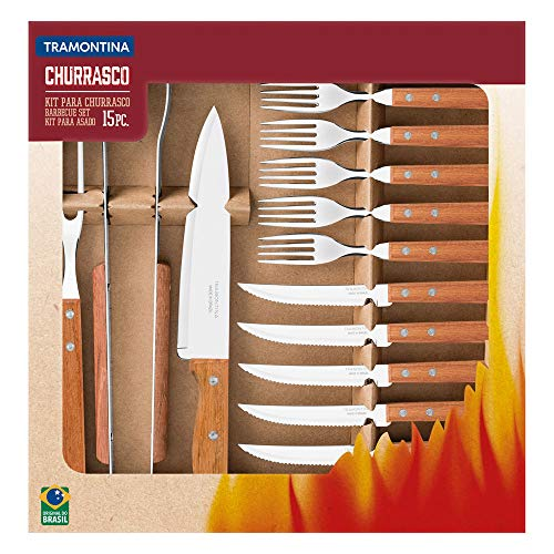 Kit para Churrasco 15 Peças Tramontina Natural