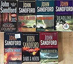 Complete 10-book VIRGIL FLOWERS Series by Sandford -- Dark of the Moon / Heat Lightning / Rough Country / Bad Blood / Shoc...